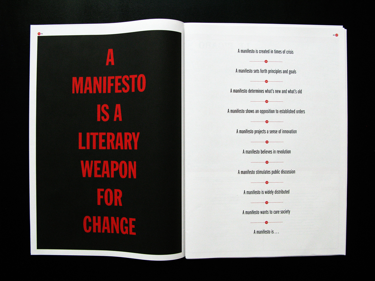 A manifesto is a literary weapon for change!